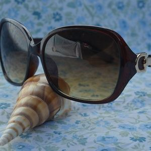 Sunglasses Black / Brown Womens Square / Rectangle